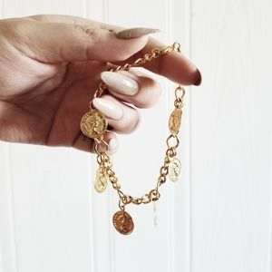 Gold lucky penny beacelet